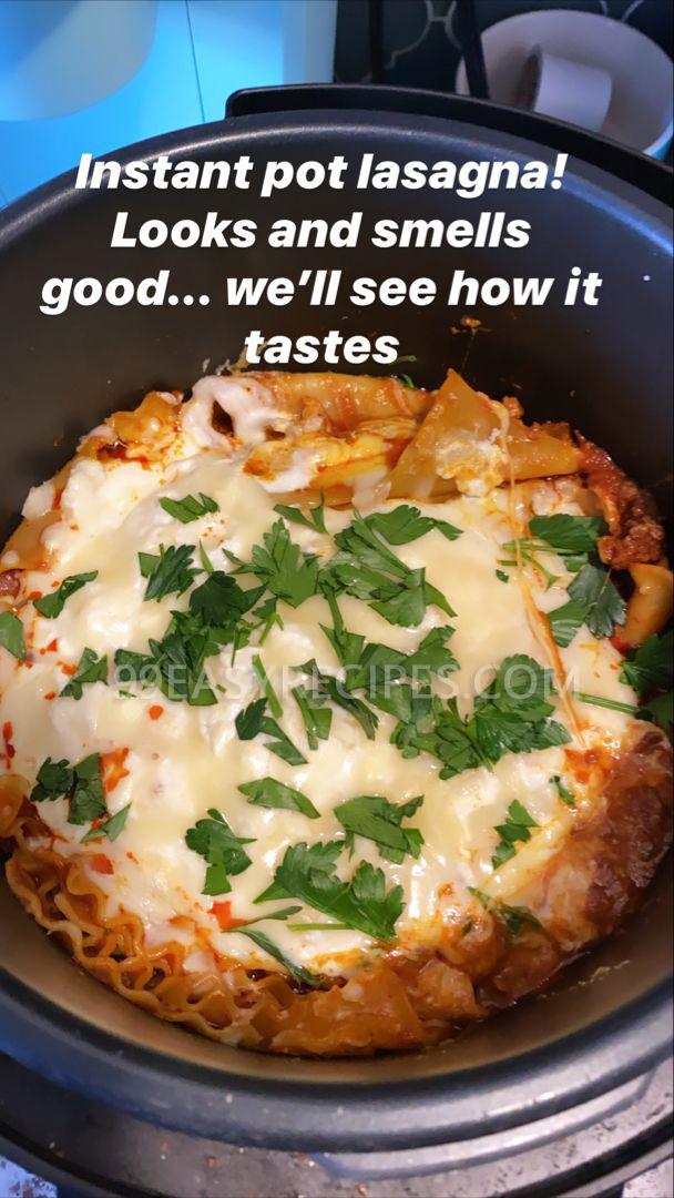 easy, cheesy instant pot lasagna - 99easyrecipes